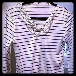 Tops - Cute striped top with lacing